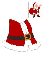 Morceaux pere Noel geant
