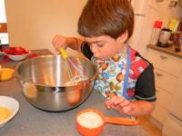 Muffins fraises chocolat et amandes-2