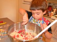 Muffins fraises chocolat et amandes-5