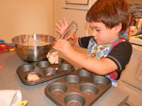 Muffins fraises chocolat et amandes-6