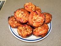 Muffins fraises chocolat et amandes-7