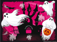 Napperon-Bal de fantômes