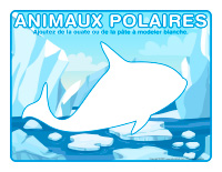 Napperons de jeux à modeler-Animau polaires