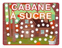 Napperons de jeux à modeler-Cabane à sucre