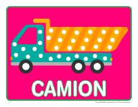 Napperons de jeux à modeler-Camions