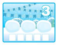 Napperons de jeux à modeler-Châteaux de neige