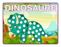 Napperons de jeux à modeler-Dinosaures