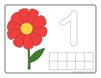Napperons de jeux à modeler-Fleurs apprendre