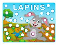Napperons de jeux à modeler-Lapins-1
