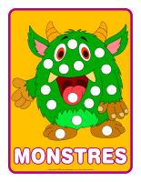 Napperons de jeux à modeler-Monstres-1