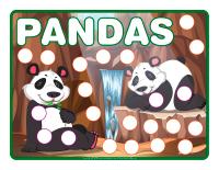 Napperons de jeux à modeler-Pandas
