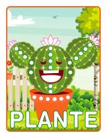 Napperons de jeux à modeler-Plantes