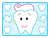 Napperons de jeux à modeler-Santé dentaire