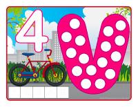 Napperons de jeux à modeler-Vélos et tricycles