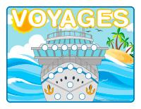 Napperons de jeux à modeler-Voyages