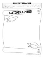 Page autographes