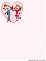 Papier à lettre-La St-Valentin