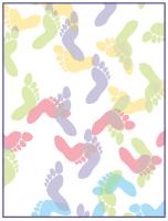 Papier à lettres - Des pieds et des mains