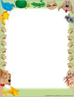 Papier à lettres - L'animalerie