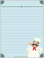 Papier à lettres - Le restaurant