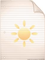 Papier à lettres - Les astres