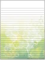Papier à lettres - Les sciences