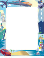Papier à lettres - Les vacances