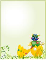 Papier à lettres - Pâques - Poni