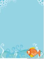 Papier à lettres - les poissons