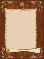 Papier à lettres-Aout en brun