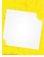 Papier à lettres-Avril en jaune