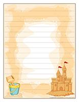 Papier à lettres-Châteaux de sable