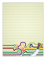Papier à lettres-Électricité