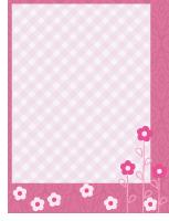 Papier à lettres-Février en rose