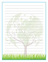 Papier à lettres-Jour de la Terre 2018