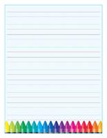 Papier à lettres-L'écriture
