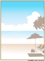 Papier à lettres-La plage
