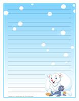 Papier à lettres-Le monde polaire