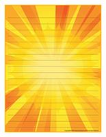 Papier à lettres-Le soleil