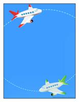 Papier à lettres-Le transport aérien