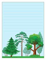 Papier à lettres-Les arbres