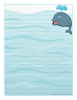 Papier à lettres-Les baleines