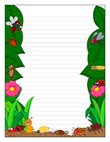 Papier à lettres-Les bestioles