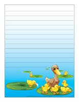Papier à lettres-Les canards