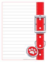 Papier à lettres-Les chiens