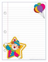 Papier à lettres-Les clowns