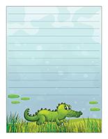 Papier à lettres-Les crocodiles