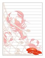 Papier à lettres-Les crustacés