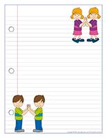 Papier à lettres-Les jumeaux