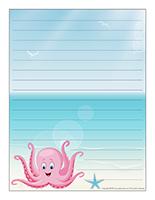 Papier à lettres-Les pieuvres